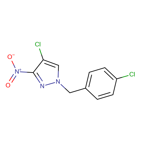 4-Chloro-1-(4-chloro-benzyl)-3-nitro-1H-pyrazole