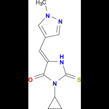 3-Cyclopropyl-5-(1-methyl-1H-pyrazol-4-ylmethylene)-2-thioxo-imidazolidin-4-one