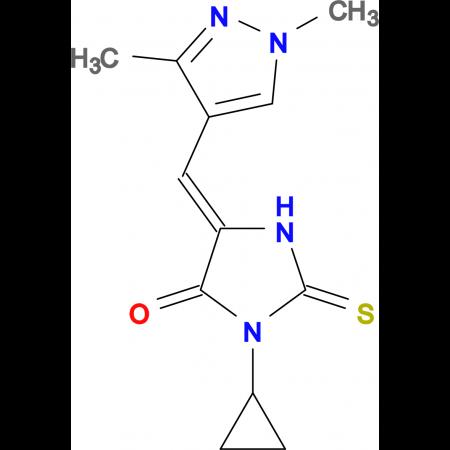 3-Cyclopropyl-5-(1,3-dimethyl-1H-pyrazol-4-ylmethylene)-2-thioxo-imidazolidin-4-one