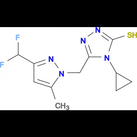 4-Cyclopropyl-5-(3-difluoromethyl-5-methyl-pyrazol-1-ylmethyl)-4H-[1,2,4]triazole-3-thiol