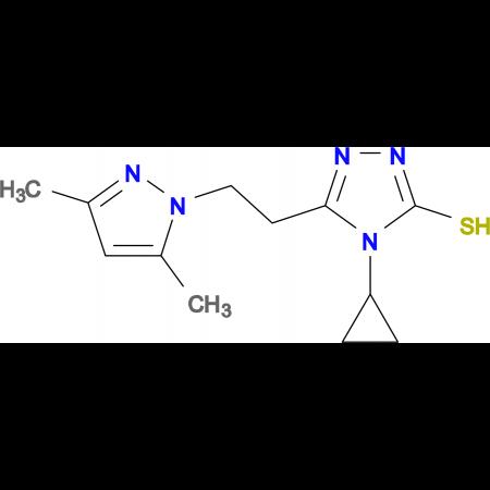 4-Cyclopropyl-5-[2-(3,5-dimethyl-pyrazol-1-yl)-ethyl]-4H-[1,2,4]triazole-3-thiol
