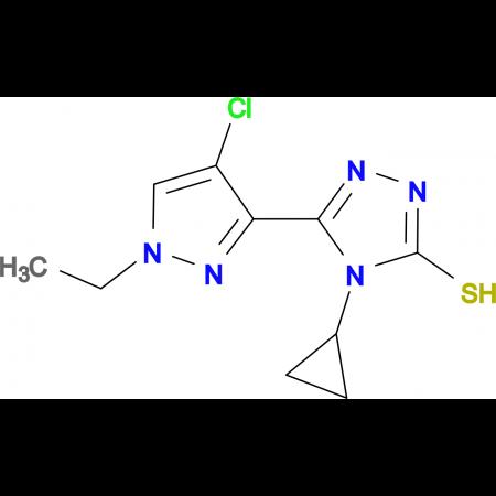 5-(4-Chloro-1-ethyl-1H-pyrazol-3-yl)-4-cyclopropyl-4H-[1,2,4]triazole-3-thiol