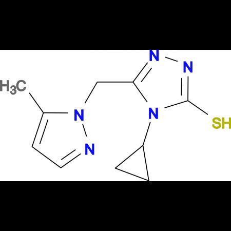 4-Cyclopropyl-5-(5-methyl-pyrazol-1-ylmethyl)-4H-[1,2,4]triazole-3-thiol