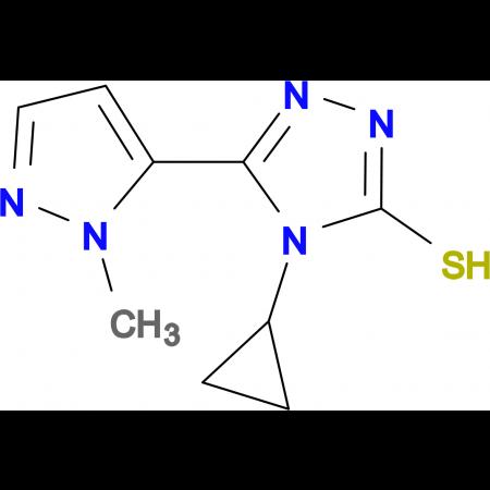 4-Cyclopropyl-5-(2-methyl-2H-pyrazol-3-yl)-4H-[1,2,4]triazole-3-thiol