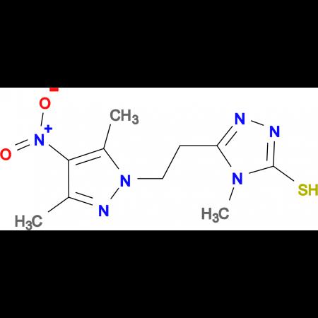 5-[2-(3,5-Dimethyl-4-nitro-pyrazol-1-yl)-ethyl]-4-methyl-4H-[1,2,4]triazole-3-thiol