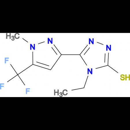 4-Ethyl-5-(1-methyl-5-trifluoromethyl-1H-pyrazol-3-yl)-4H-[1,2,4]triazole-3-thiol