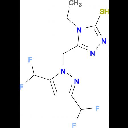 5-(3,5-Bis-difluoromethyl-pyrazol-1-ylmethyl)-4-ethyl-4H-[1,2,4]triazole-3-thiol