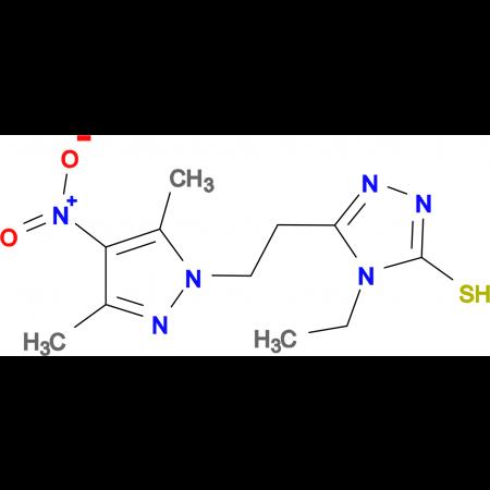 5-[2-(3,5-Dimethyl-4-nitro-pyrazol-1-yl)-ethyl]-4-ethyl-4H-[1,2,4]triazole-3-thiol
