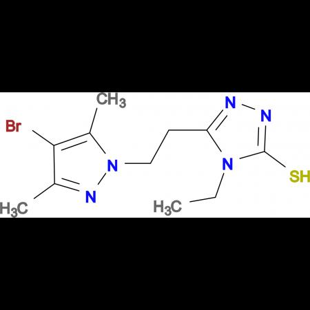 5-[2-(4-Bromo-3,5-dimethyl-pyrazol-1-yl)-ethyl]-4-ethyl-4H-[1,2,4]triazole-3-thiol