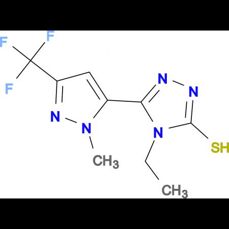 4-Ethyl-5-(2-methyl-5-trifluoromethyl-2H-pyrazol-3-yl)-4H-[1,2,4]triazole-3-thiol