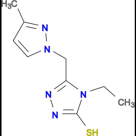 4-Ethyl-5-(3-methyl-pyrazol-1-ylmethyl)-4H-[1,2,4]triazole-3-thiol