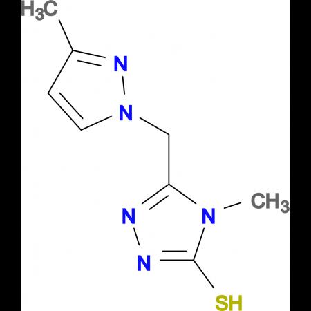 4-Methyl-5-(3-methyl-pyrazol-1-ylmethyl)-4H-[1,2,4]triazole-3-thiol