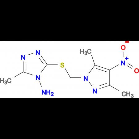 3-(3,5-Dimethyl-4-nitro-pyrazol-1-ylmethylsulfanyl)-5-methyl-[1,2,4]triazol-4-ylamine