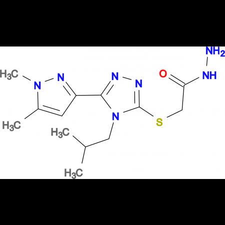 2-{[5-(1,5-Dimethyl-1H-pyrazol-3-yl)-4-isobutyl-4H-1,2,4-triazol-3-yl]thio}acetohydrazide