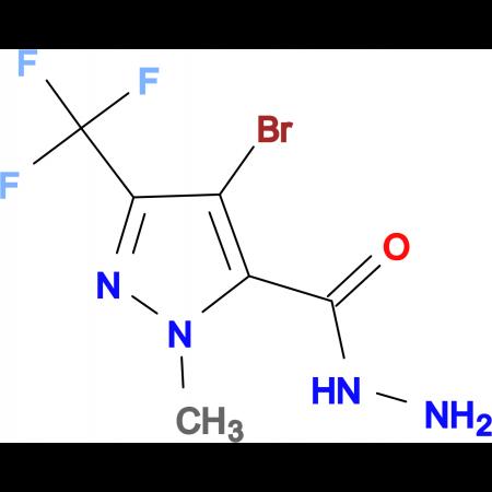 4-Bromo-1-methyl-3-(trifluoromethyl)-1H-pyrazole-5-carbohydrazide