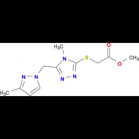 [4-Methyl-5-(3-methyl-pyrazol-1-ylmethyl)-4 H -[1,2,4]triazol-3-ylsulfanyl]-acetic acid methyl ester
