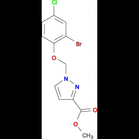 1-(2-Bromo-4-chloro-phenoxymethyl)-1 H -pyrazole-3-carboxylic acid methyl ester