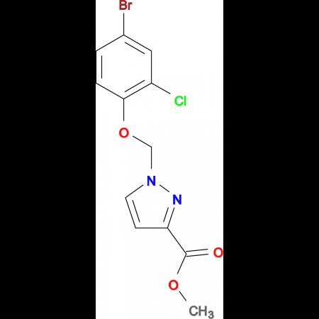 1-(4-Bromo-2-chloro-phenoxymethyl)-1 H -pyrazole-3-carboxylic acid methyl ester