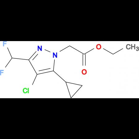 (4-Chloro-5-cyclopropyl-3-difluoromethyl-pyrazol-1-yl)-acetic acid ethyl ester