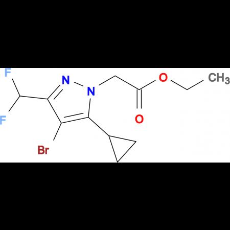 (4-Bromo-5-cyclopropyl-3-difluoromethyl-pyrazol-1-yl)-acetic acid ethyl ester