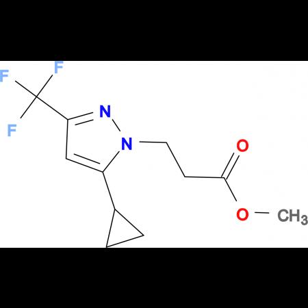 3-(5-Cyclopropyl-3-trifluoromethyl-pyrazol-1-yl)-propionic acid methyl ester