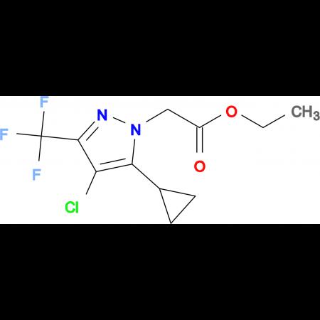 (4-Chloro-5-cyclopropyl-3-trifluoromethyl-pyrazol-1-yl)-acetic acid ethyl ester