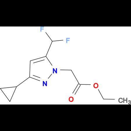 (3-Cyclopropyl-5-difluoromethyl-pyrazol-1-yl)-acetic acid ethyl ester