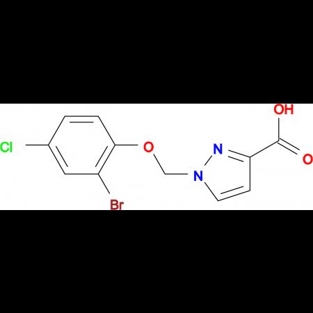 1-(2-Bromo-4-chloro-phenoxymethyl)-1 H -pyrazole-3-carboxylic acid
