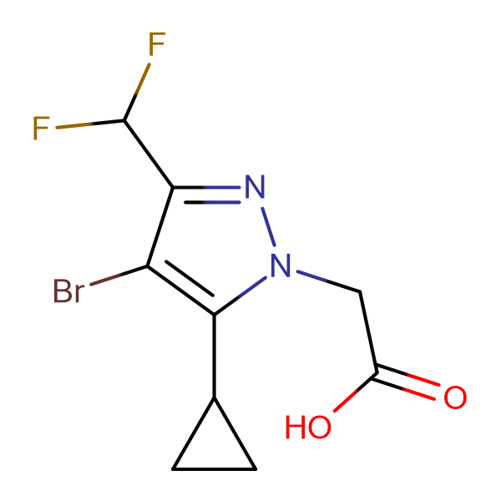 (4-Bromo-5-cyclopropyl-3-difluoromethyl-pyrazol-1-yl)-acetic acid