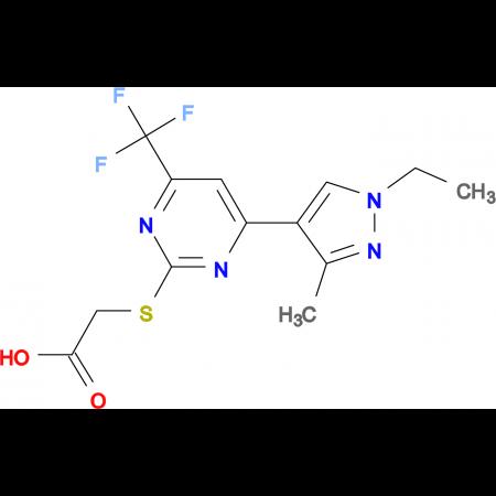 [4-(1-Ethyl-3-methyl-1 H -pyrazol-4-yl)-6-trifluoromethyl-pyrimidin-2-ylsulfanyl]-acetic acid
