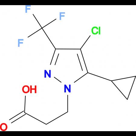 3-(4-Chloro-5-cyclopropyl-3-trifluoromethyl-pyrazol-1-yl)-propionic acid