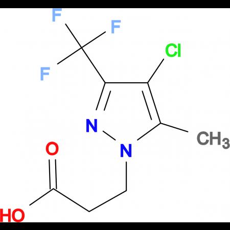 3-(4-Chloro-5-methyl-3-trifluoromethyl-pyrazol-1-yl)-propionic acid