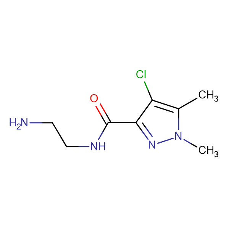 4-Chloro-1,5-dimethyl-1 H -pyrazole-3-carboxylic acid (2-amino-ethyl)-amide
