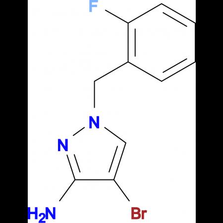 4-Bromo-1-(2-fluoro-benzyl)-1 H -pyrazol-3-ylamine