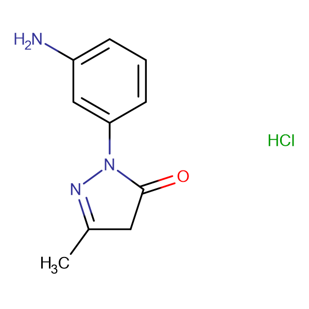 2-(3-Amino-phenyl)-5-methyl-2,4-dihydro-pyrazol-3-one hydrochloride