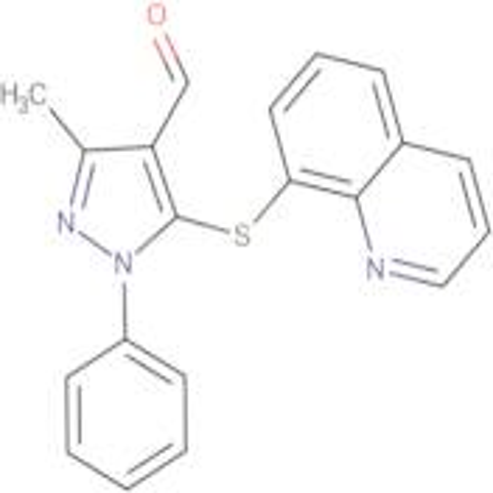 3-Methyl-1-phenyl-5-(quinolin-8-ylsulfanyl)-1 H -pyrazole-4-carbaldehyde