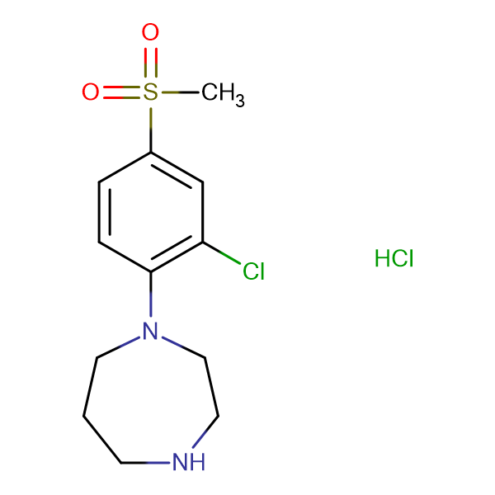 1-[(2-Chloro-4-methylsulfonyl)phenyl]homopiperazine hydrochloride