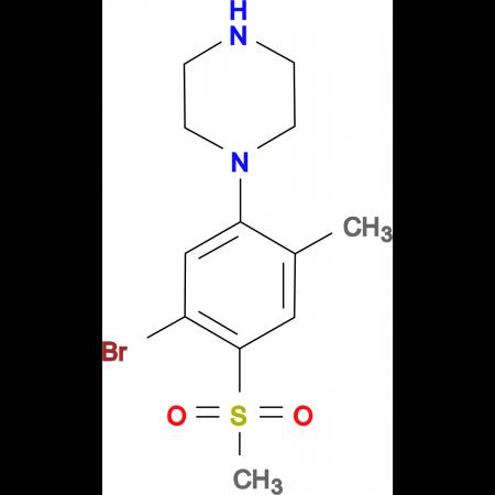 1-[(5-Bromo-2-methyl-4-methylsulfonyl)phenyl]piperazine