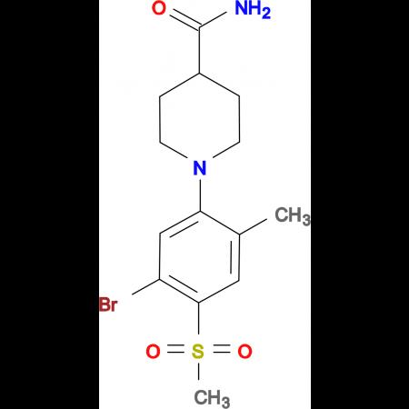 1-[(5-Bromo-2-methyl-4-methylsulfonyl)phenyl]piperidine-4-carboxamide