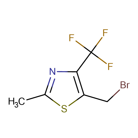 5-Bromomethyl-2-methyl-4-(trifluoromethyl)-1,3-thiazole