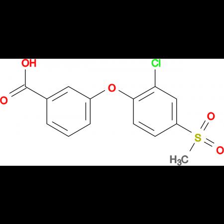 3-[(2-Chloro-4-methylsulfonyl)phenoxy]benzoic acid