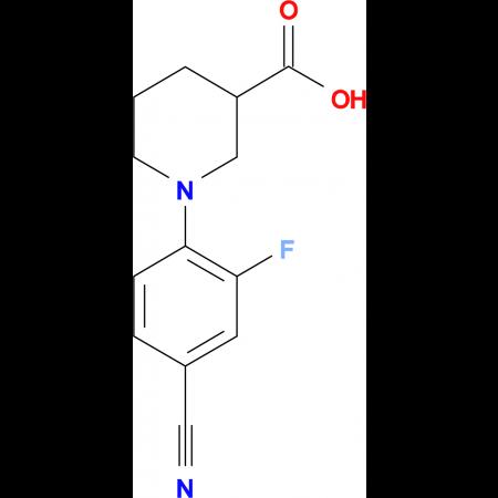 1-[(4-Cyano-2-fluoro)phenyl]piperidine-3-carboxylic acid