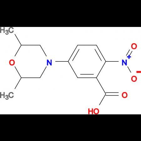 5-(2,6-Dimethylmorpholin-4-yl)-2-nitrobenzoic acid