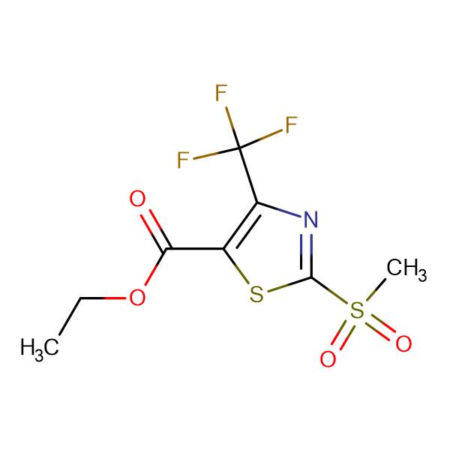 Ethyl 2-Methylsulfonyl-4-(trifluoromethyl)-1,3-thiazole-5-carboxylate
