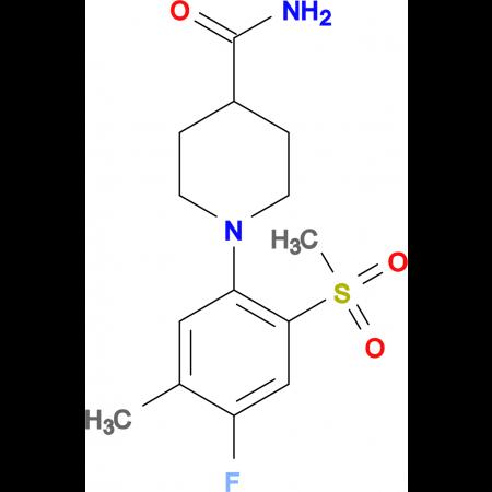 1-[(4-Fluoro-5-methyl-2-methylsulfonyl)phenyl]piperidine-4-carboxamide