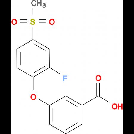 3-[(2-Fluoro-4-methylsulfonyl)phenoxy]benzoic acid