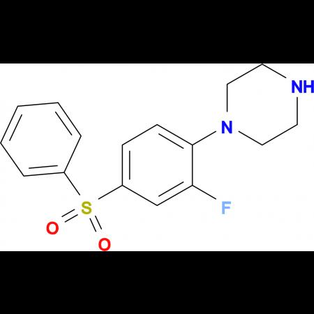 1-[(2-Fluoro-4-phenylsulfonyl)phenyl]piperazine