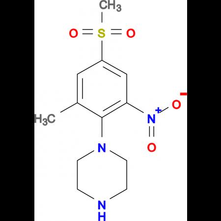 1-[(2-Methyl-4-methylsulfonyl-6-nitro)phenyl]piperazine