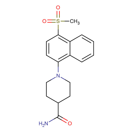 1-[(4-Methylsulfonyl)naphth-1-yl]piperidine-4-carboxamide