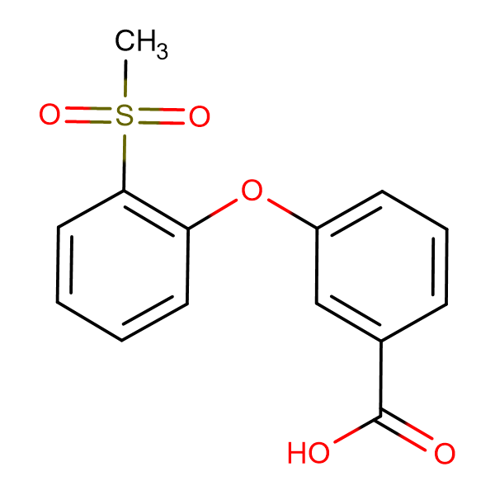 3-[(2-Methylsulfonyl)phenoxy]benzoic acid